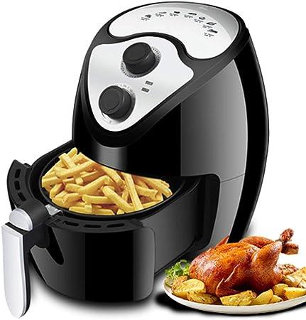 Freidora de Aire de 3.5 litros, Horno para cocinar saludablemente sin Aceite, Pollo Frito con Papas Papas Fritas Máquina de cocinar a la Parrilla, Brochetas para freír, Asar, Asar a la Parrilla: