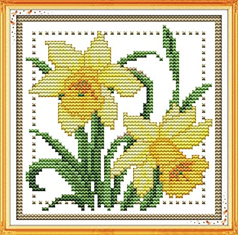 Stamped Cross Stitch Kits for Beginners Acurate Pre-Printed Counted Cross Stitch Love Heart Tree