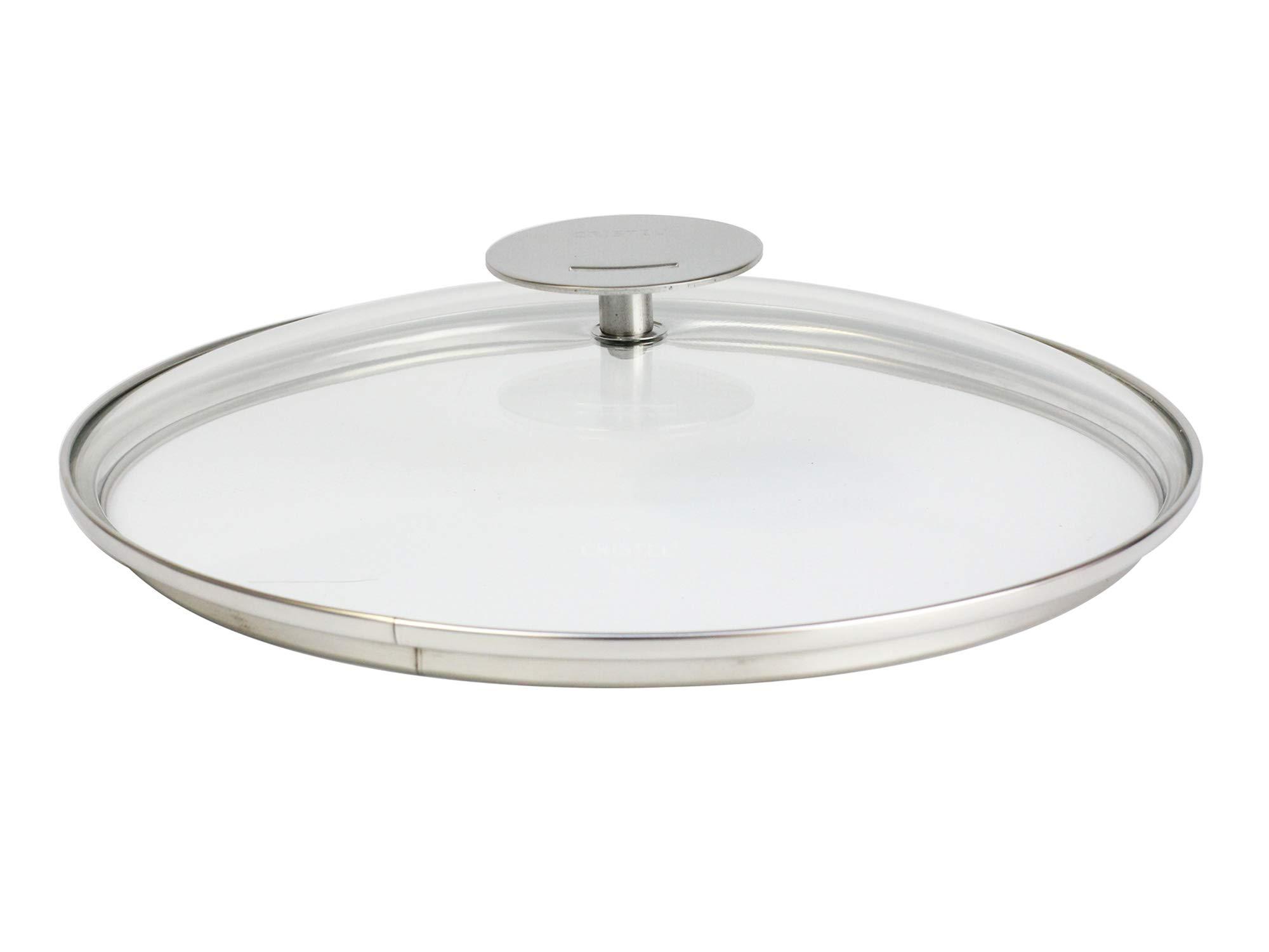 Cristel K28P Domed Glass Lid, 11'', Silver