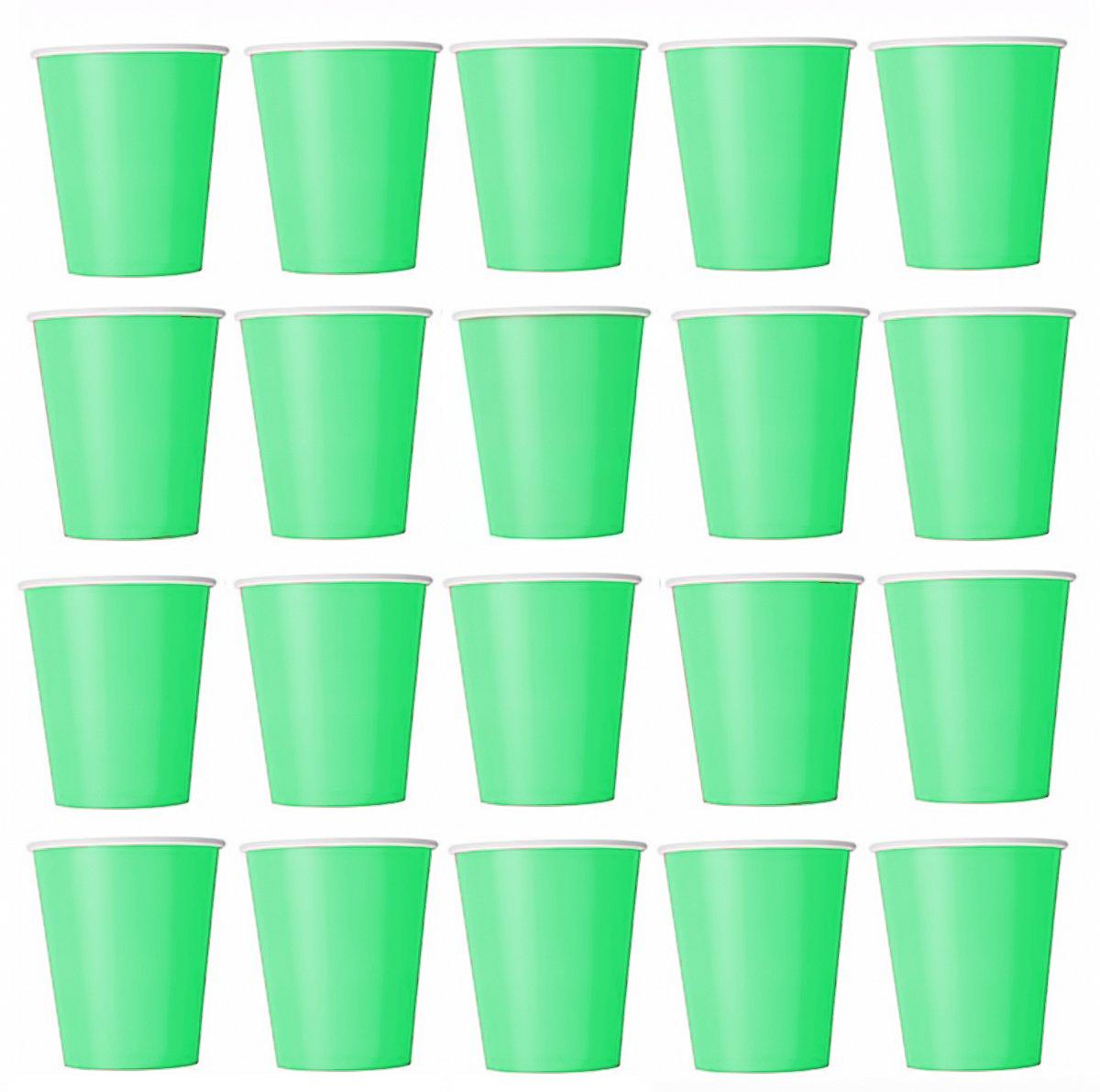partido bodas Jard/ín cumplea/ños 50/x Vasos verde claro vasos desechables para bebidas fr/ías y bebidas calientes de cart/ón respetuoso con el medio ambiente Taza de caf/é barbacoas picnic