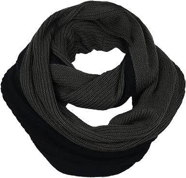 FORBUSITE Unisex Men Warm Soft Knit Winter Infinity Scarf