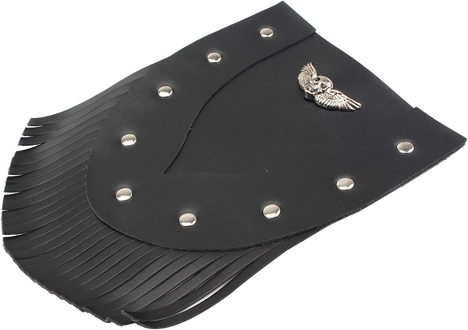 Front Fender Leather Mud Flap Mudguard Cover Skull Vintage for Harley Sportster XL883 Iron 883 Softail Dyna
