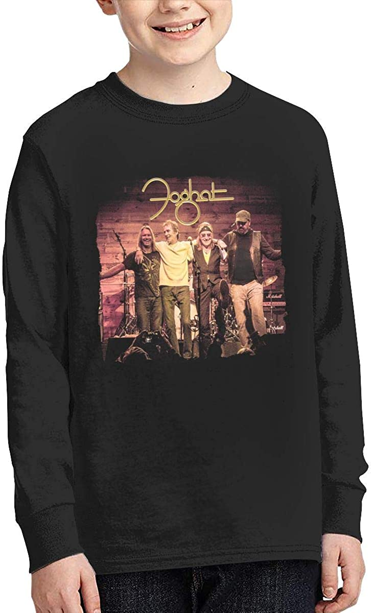 MichaelHazzard Foghat Night Shift Youth Comfortable Long Sleeve Crewneck Tee T-Shirt for Boys and Girls