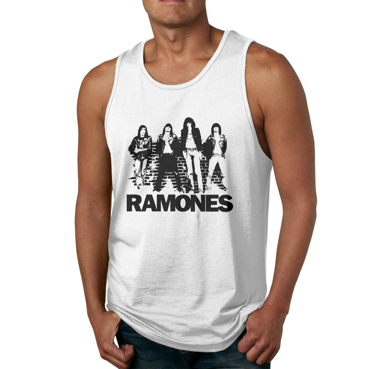 Hawnferk The Ramones Punk Rock Band Tank Tops For Stretchy Sleeveless Shirt Low Wor