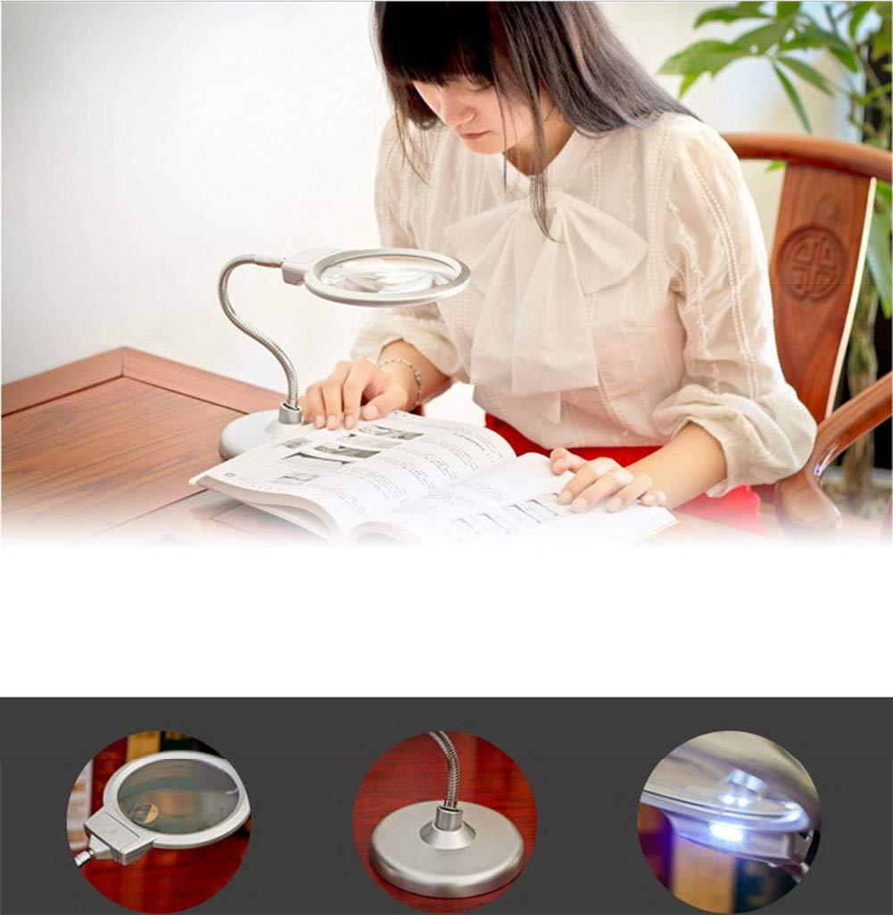 Riparazione Elettronica Orologio Cellulare Riparazione Zzyq Lente dIngrandimento da tavolino Lampada a LED 10X20X Magnifier da Lettura Vecchio