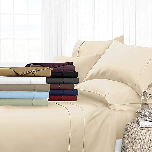 H&H Decor - Sábana Bajera Ajustable (100% algodón Egipcio, 400 ...