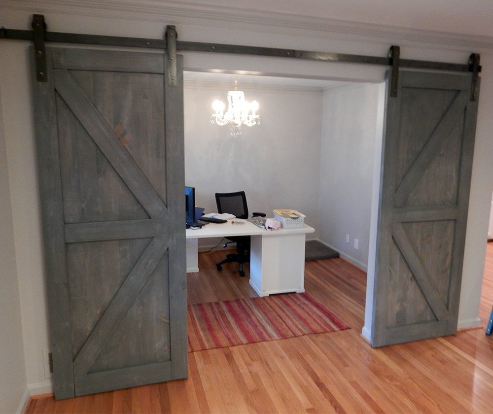sliding furniture door barns diy barn build tutorials