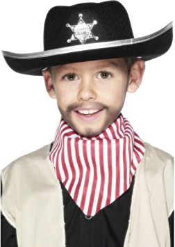 NET TOYS Sombrero de Sheriff o Cowboy para niños Accesorios Gorro ...