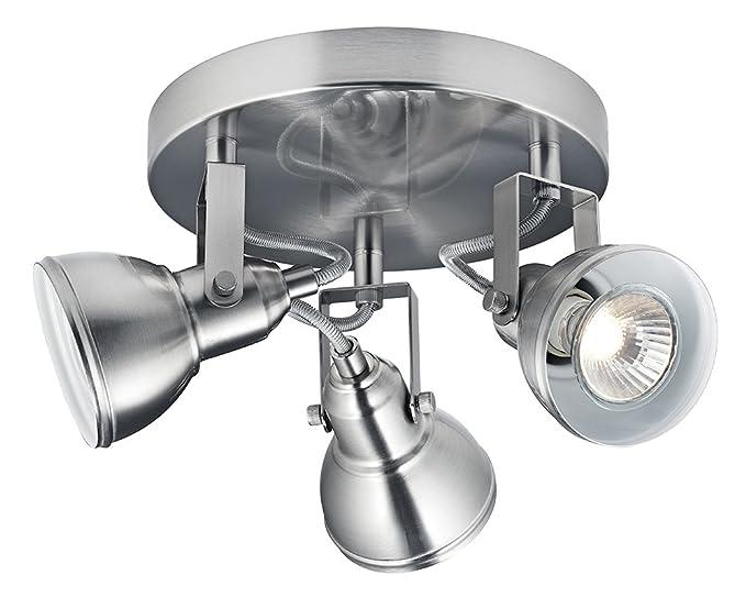 Einzigartiges Industrie Design Satin Chrom Schalter Wand Spot Lampe von Haysoms