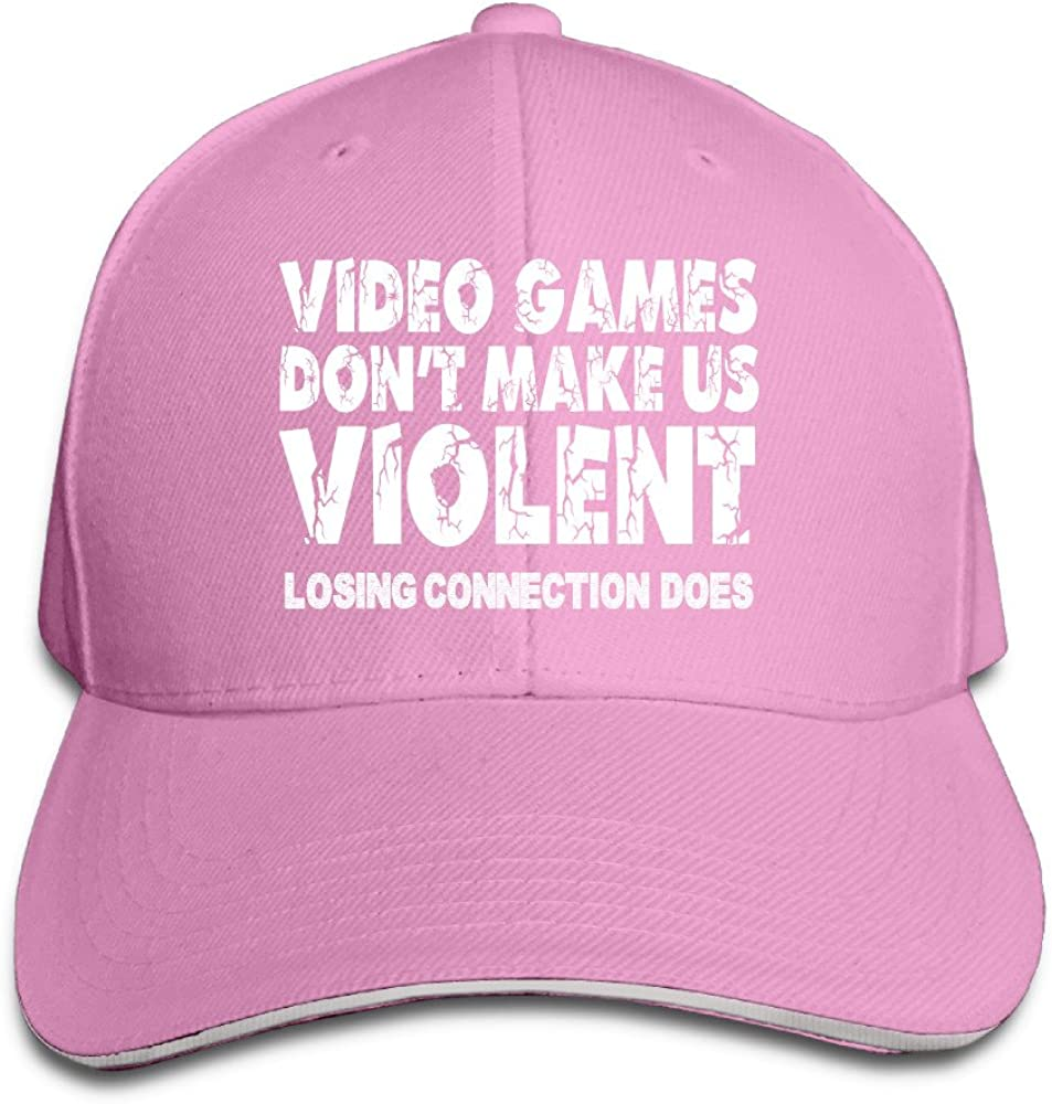 Hombre Mujer Unisex Vídeo Juegos Dont Make Us Violent 2016Coolest snapbacks