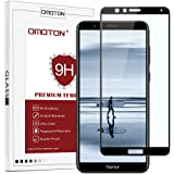 OMOTON Compatible Screen protector for Huawei 7X, Full Coverage Glass Protector with Easy Installation, [9H Hardness], [Crystal Clear], [Scratch Resist], Black