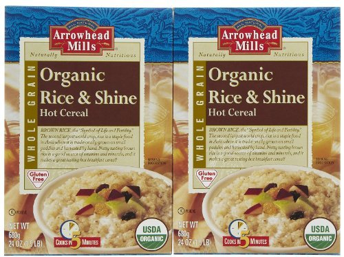 Arrowhead Mills Gluten-Free Organic Hot Cereal, Rice & Shine, 24 oz, 2 pk ()