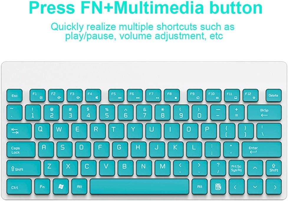 Round Cap Button Design Keyboard and Mouse Combos 2.4ghz Wireless Technology Bluetooth Mute 90 Keys Keyboard Green Wendry Wireless Keyboard and Mouse