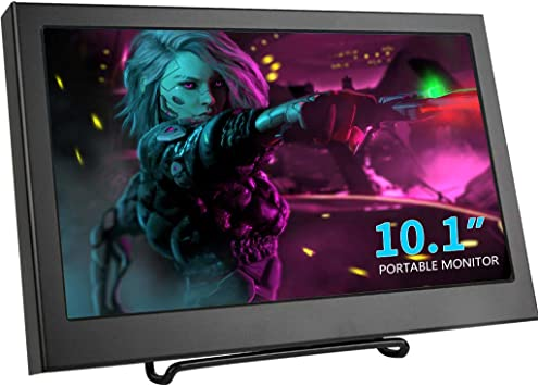 Kenowa Monitor portátil de 10.1 Pulgadas Monitor de Pantalla con resolución Full HD 1366 * 768 con HDMI/VGA, Altavoz, Conector de alimentación DC12V, para cámara CCTV, PS3 PS4 Xbox360, PC: Amazon.es: Electrónica