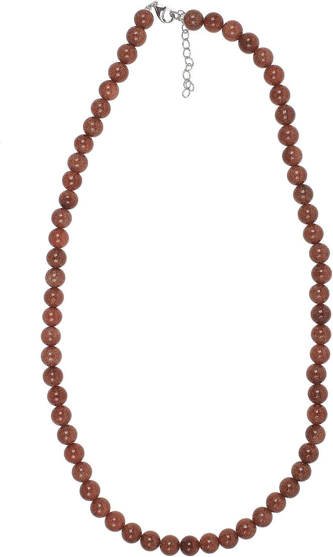 jewel24Plata de ley 925mujer piedra preciosa cadena con oro Río cabochon 52–57cm mujeres collar