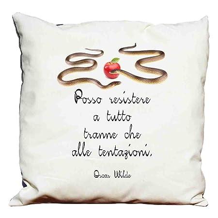 Cuscini D Autore.Cuscino Frasi D Autore Oscar Wilde Amazon It Casa E Cucina