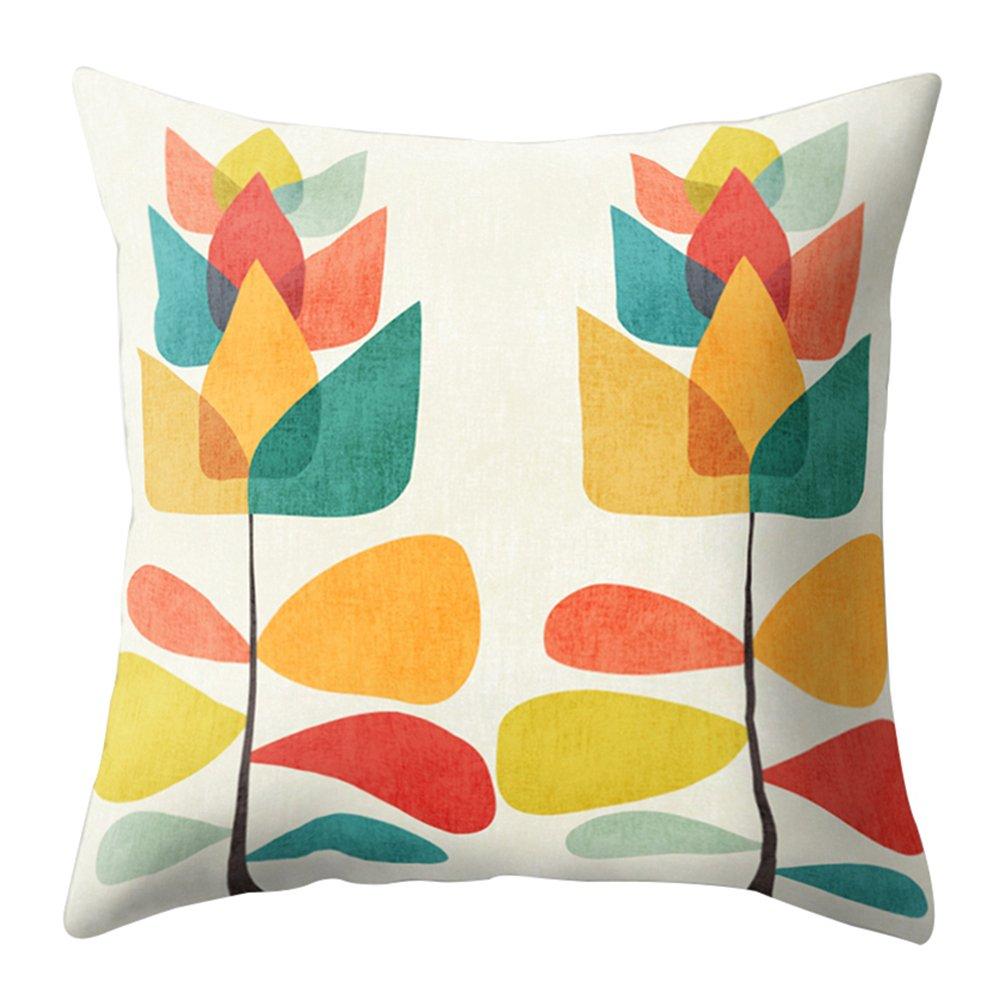 display08 Multi-Color Cartoon Cactus Pillow Case Sofa Waist Cushion Cover Car Home Decor (1#)