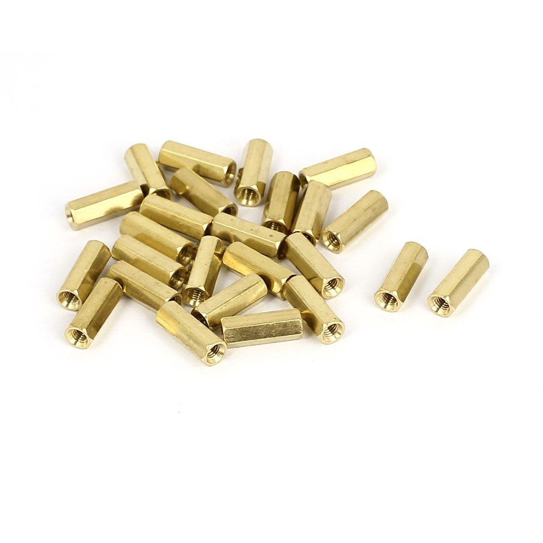 UXCELL A15081800UX0064/distanziali M3/x 13/mm femmina filettato in ottone esagonale Colonnetta pilastro distanziale dado 25PZ