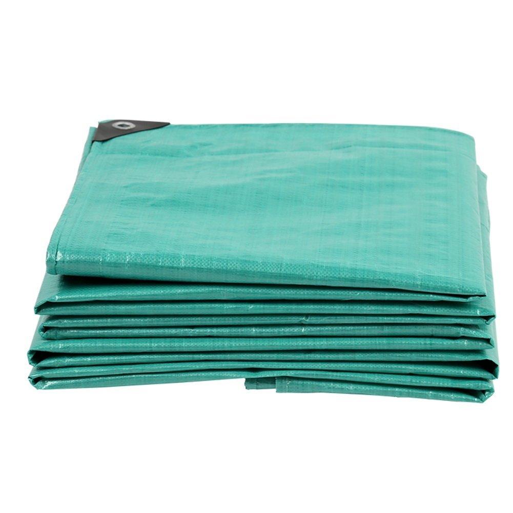 JINSH Regenschutztuch Wasserdichte Plane, regendichte Sonnenschutzplane, Sonnencreme Winddicht und staubdichtes Linoleum aus Kunststoff, (Farbe   Grün, Größe   8x10M)