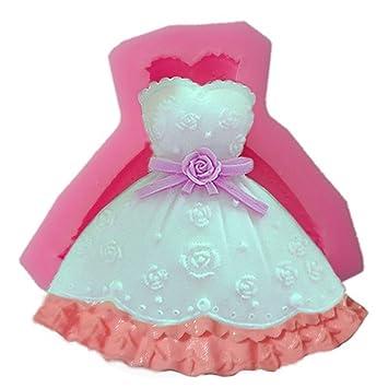 Vestido de princesa de no tóxica de silicona 3d Fondant molde tarta de Boda molde Chocolate para hornear Sugarcraft yihuily: Amazon.es: Hogar