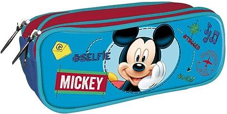 DISNEY MICKEY Estuche portatodo con triple cremallera bolsillo: Amazon.es: Hogar