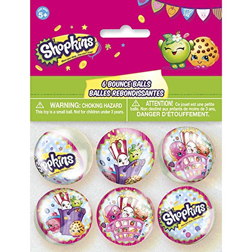 [Shopkins Bouncy Ball Party Favors, 6ct] (Bouncy Ball Costume)
