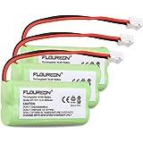 Floureon 3 Packs Rechargeable Cordless Phone Batteries