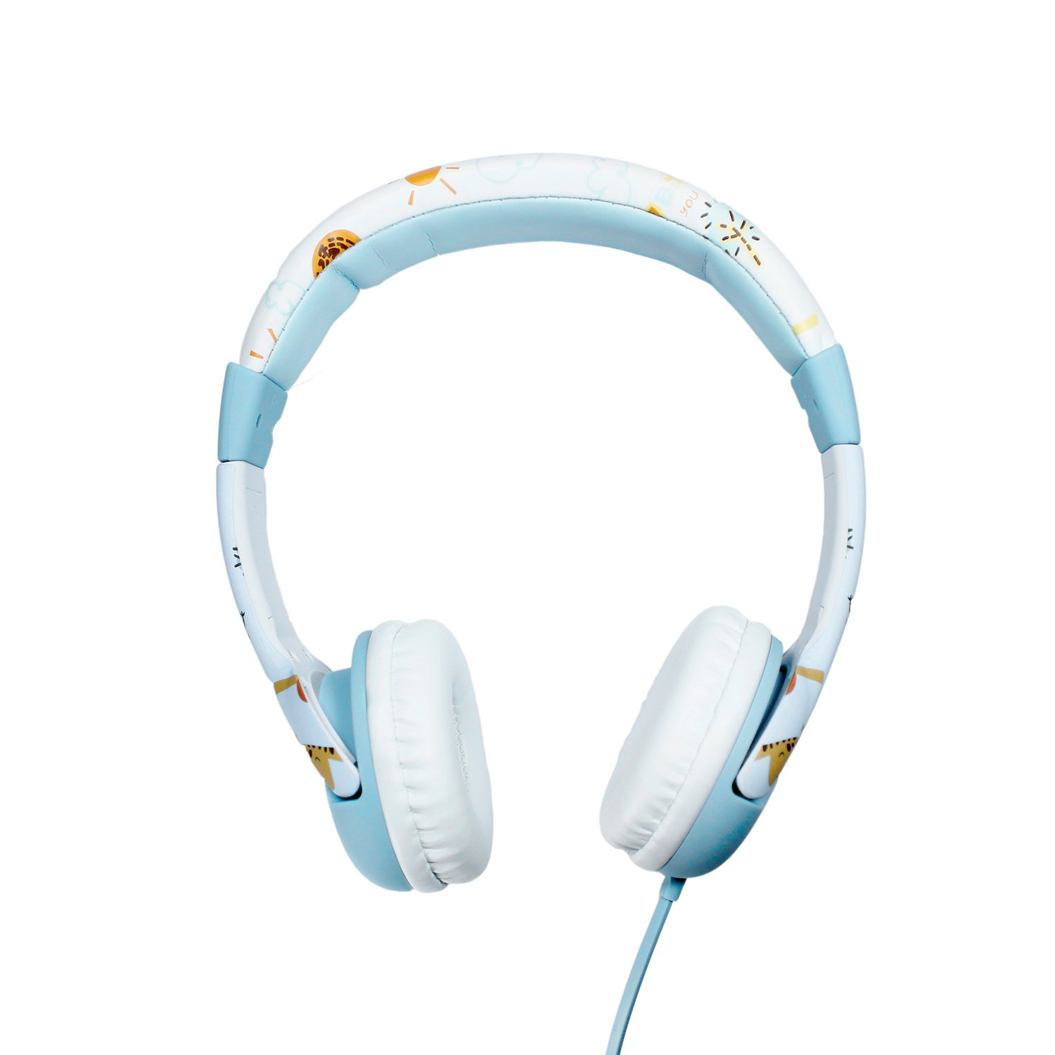 AMALEN Wired Kids Headphones Cartoon Element Adorable Design Over the Ear Headsets with 85 Volume Limited, Food Grade Silicon Material