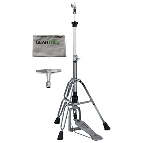 Yamaha HS 850 Heavy Weight Chain Link Hi Hat Stand w/Cleaning Cloth and Drum Ke
