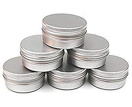 6852cc013953 CTKcom 5-Ounce 6-Packs Screw Top Metal Steel Tins Aluminum Tin Cans Gram  Jar,150ml Empty Slip Slide Round Containers For Lip Balm,Salve,Crafts,DIY  ...