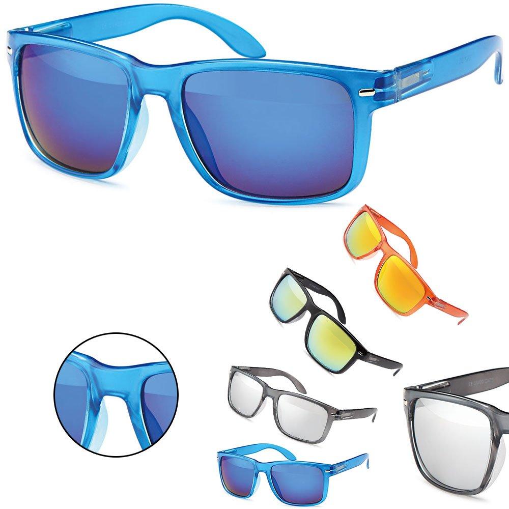 Sense42 Retro Sonnenbrille glänzender Rahmen Nerdbrille Damen Herren