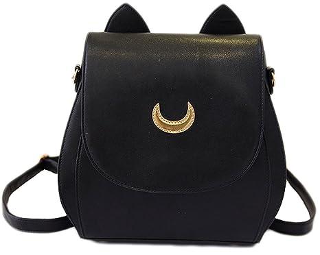 9ec29dc68198 Sailor Moon Anime Cosplay Bag Backpack School Bag (Black)