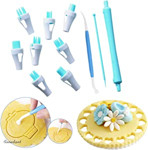 11 Pieces Lace Tweezers clips, Food grade plastic Cookie Stamp Mold Cake Cupcake Fondant Decorating Tool