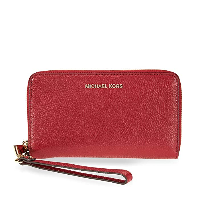 04e81a9678d6 Amazon.com: MICHAEL Michael Kors Mercer Large Leather Smartphone Wristlet  (Rose Pink): Computers & Accessories
