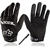 Bicycling Gloves, [Free Bonus Stylus Pen] VAOO Full Finger Bike Gloves Light Silicone Get Pad Motorcycle Gloves Riding Gloves for Men and Women(Black)
