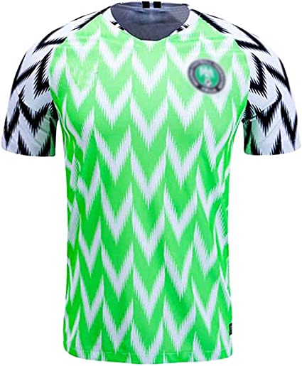 Amazon Com Ghmei Mens Soccer Top Jerseys Nigeria Football Shirts Adult Sports Athletics Retro Competition Mesh Adult Short Sleeve 2018 Russia World Cup Sports Outdoors