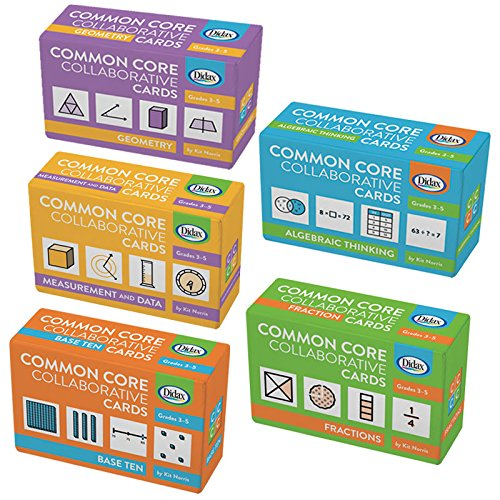Didax Educational Resources Children's Common Core Grade 3-5 Collaborative Card Set