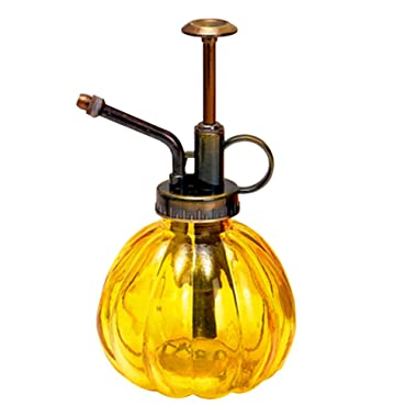 Layboo Vintage Style Transparent Glass Pumpkin Bottle Sprayer Watering Can Plant Mister (Yellow)