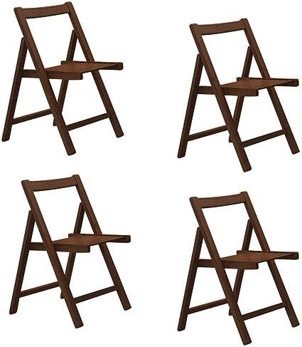 sillas Plegables para Comedor 4 sillas de Mesa de Cocina de ...