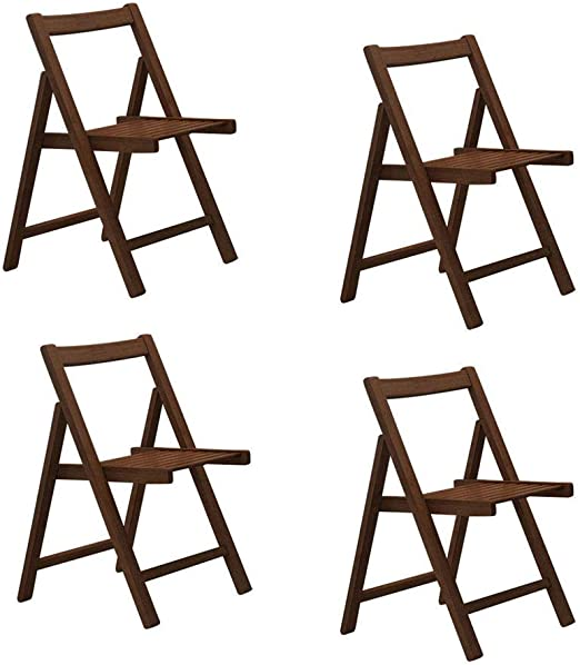 sillas Plegables para Comedor 4 sillas de Mesa de Cocina de Madera ...