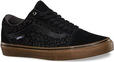 Sin Órgano digestivo Moler  Vans OLD SKOOL PRO - Zapatillas de skateboarding de Piel para hombre Negro  leopard black gum, color Negro, talla 44: Amazon.es: Zapatos y complementos