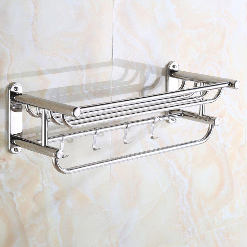 HOMEE Bathroom Stainless Steel Towel Rack European Style Bathroom Towel Rack,70cm