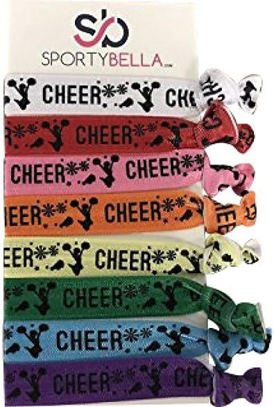 Cheerleader Hair Ties Team Party Favors Choose your colors Hair ties Cheer Hair Don/'t Care Elastic Hair Accessories
