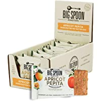 Big Spoon Roasters Apricot Pepita Nut Butter Bars - Low Carb, High Protein Bars with Non-GMO Pea Protein - Energy Bars with Peanut & Pepita Nut Butters - Gluten-free, Soy-free Protein Bars - 12-Count
