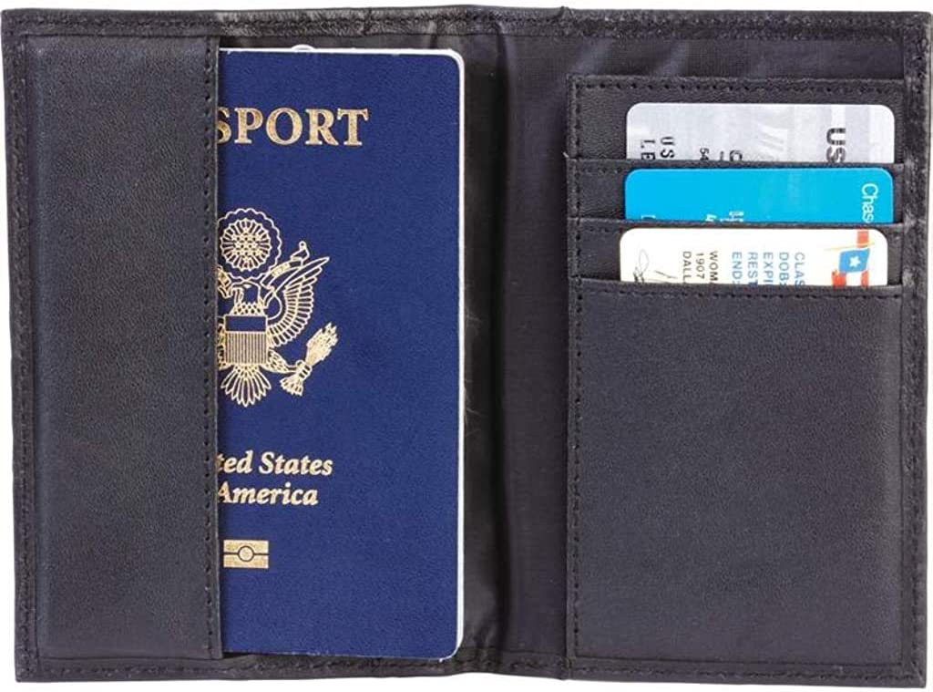 Amazon.com: Embajada piel Negro Passport Holder/Monedero ...