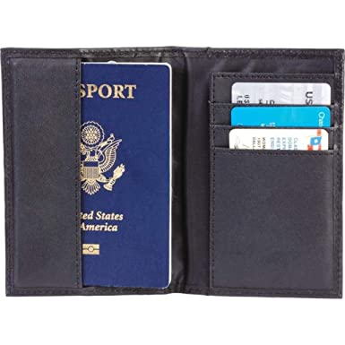 Amazon.com: Embajada piel Negro Passport Holder/Monedero ...