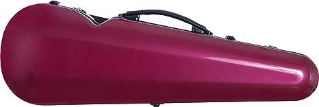 Estuche para violín fibra de vidrio Vision 4/4 burgundy - shiny M-Case + Music bag: Amazon.es: Instrumentos musicales