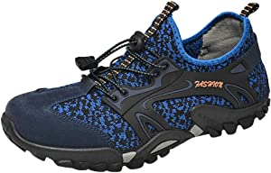 Mens Sport Hiking Sneakers   Quick Dry Water Shoes Non-Slip Outdoor Athletic Running Climbing Sneaker (8.5 M US, Blue)