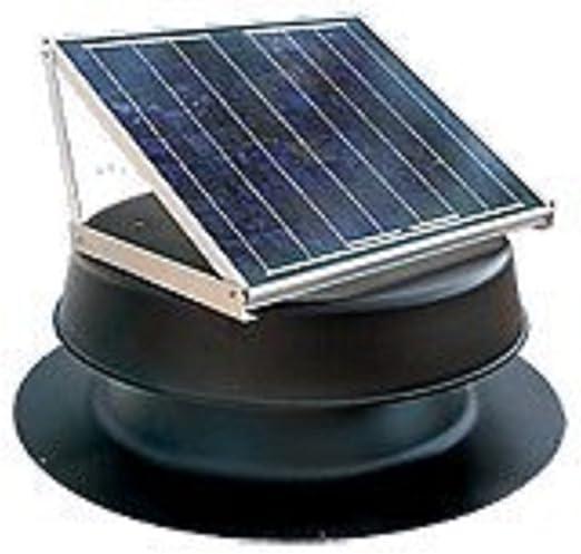 Soporte de Techo para Ventilador Solar con luz Natural, 36 W, Color Negro: Amazon.es: Jardín