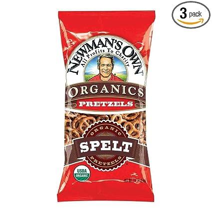 Newman de la propia Pretzel orgánicos espelta – 7 oz – 3 Pk ...